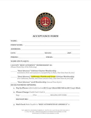 View/Print Membership Form