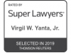 Rising Star -- Super Lawyers - Virgil Yanta Jr.